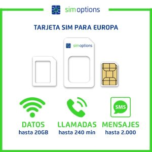 Tarjeta SIM Europa