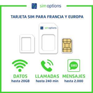 Tarjeta SIM para Francia