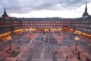 The Plaza Mayor of Madrid, one of the Spain's capital most famous places