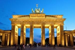 The Brandenburg Gate, located in Berlin