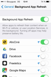 Disabling the background app refresh is a good way to use less data abroad