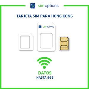 Tarjeta sim para Hong Kong