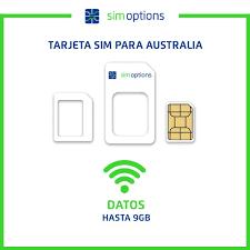 tarjeta SIM prepagada Australia