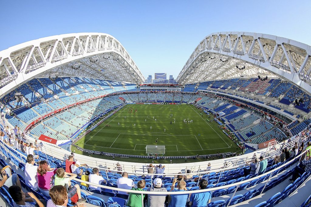 the world cup stadium fisht stadium with an inside look in russia 2018