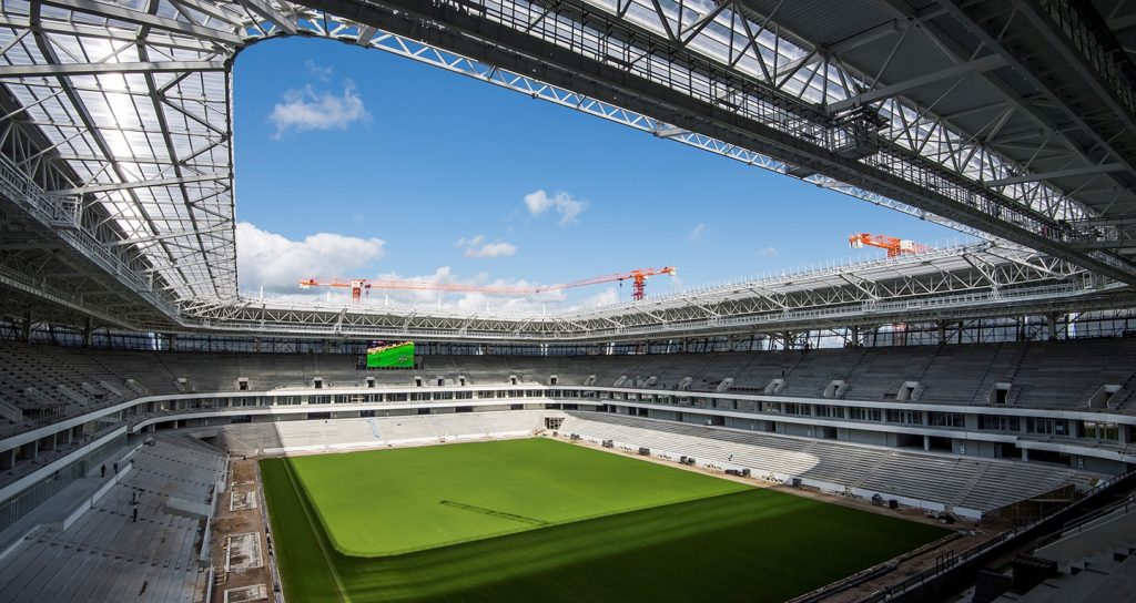 the world cup stadium kaliningrad from the inside in russia 2018