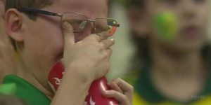 why the world cup matter a crying child after losing a national football match