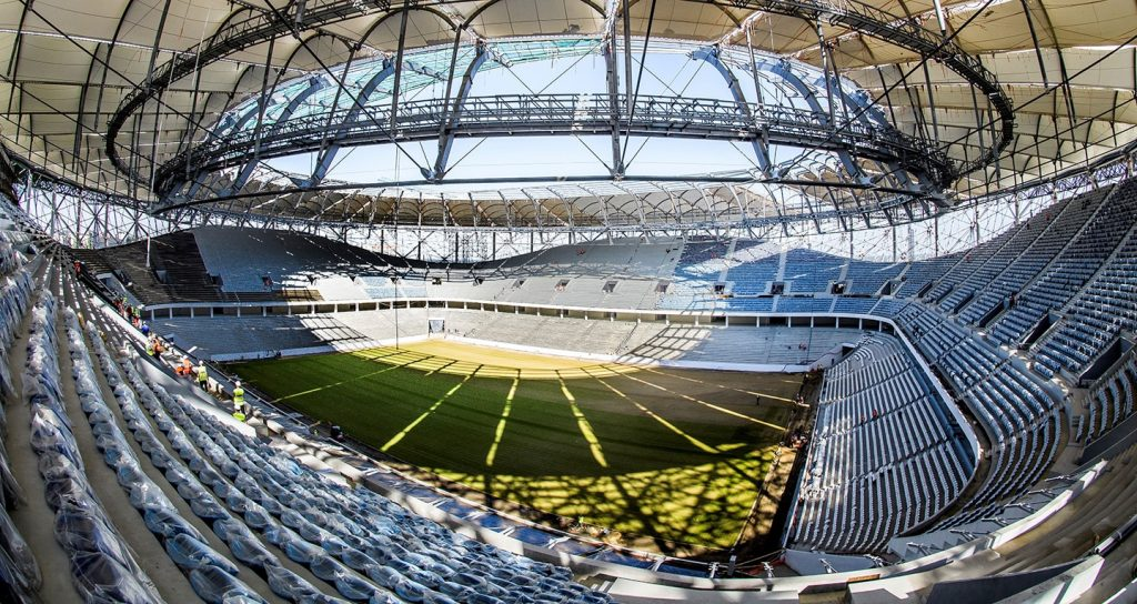 the world cup stadium volgograd arena from the inside in russia 2018