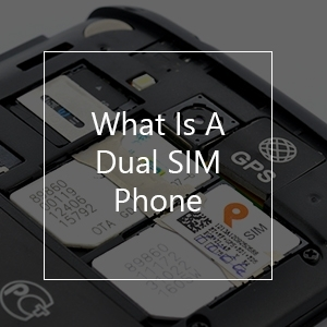 what is a dual sim phone smartphone with dual sim slots in the background