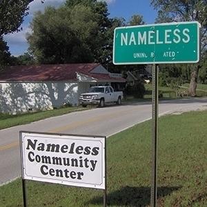 nombres de ciudades más extraños nameless tennessee