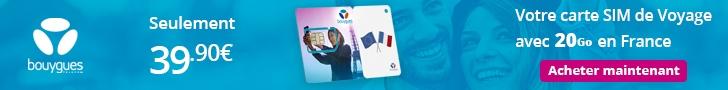 Carte SIM de Voyage de Bouygues Telecom