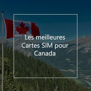Les 4 meilleures cartes SIM pour le Canada en 2021