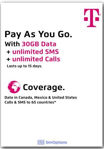 Prepaid SIM - 50GB: 50Go* | Illimité Appels & SMS