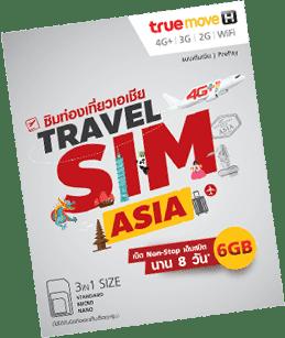 Travel SIM Asia: 6Go